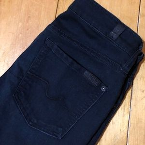 7 for all Mankind Black Qwenevere Jeggings